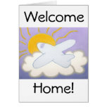 Airplane Flying Home Greeting Card