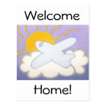 Airplane Flying Home Postcard