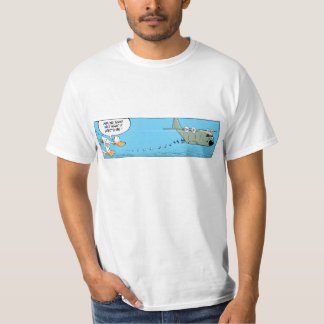 Airplane Food Funny Aviation Cartoon T-Shirt
