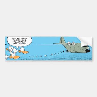 Airplane Food Joke Bumper Sticker