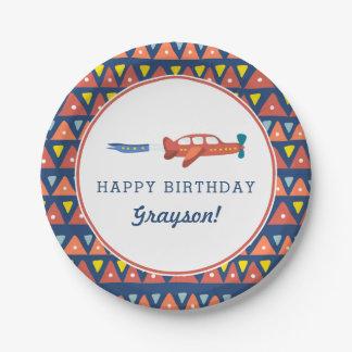 Airplane Fun Birthday Paper Plates