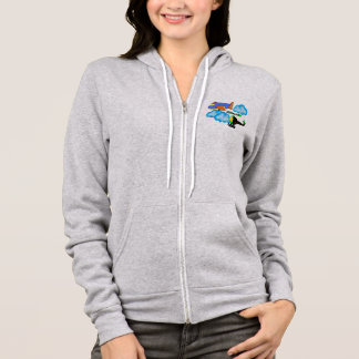 airplane helicopter on sky hoodie