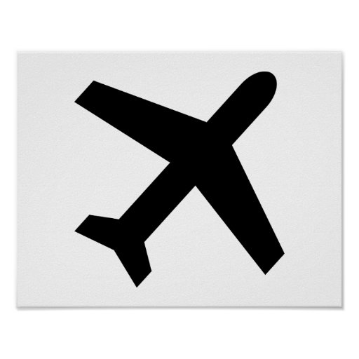 Airplane icon poster