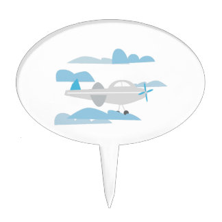 Airplane In Clouds Cake Topper