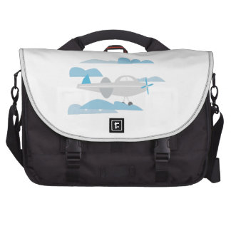 Airplane In Clouds Laptop Bags