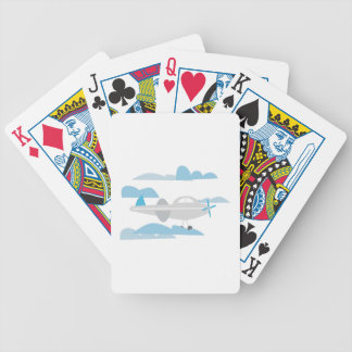 Airplane In Clouds Bicycle Playing Cards