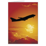 Airplane in Flight Greeting Card