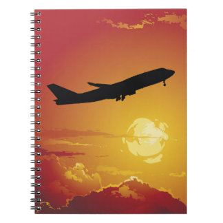 Airplane in Flight Notebook