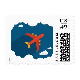 Airplane in the Blue Sky Children's Nursery Custom Postage