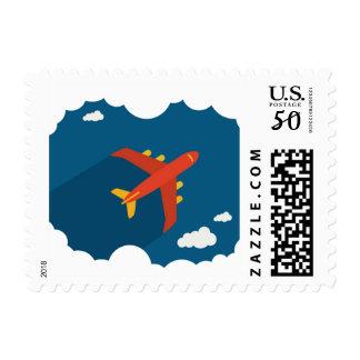 Airplane in the Blue Sky Children's Nursery Custom Postage
