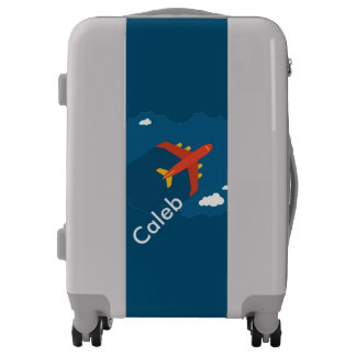 Airplane in the Blue Sky Kid Pilot Personalized Luggage