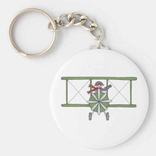 Airplane in the clouds keychains