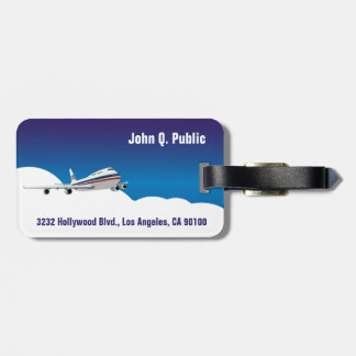 Airplane in the Clouds Luggage Tags
