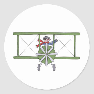 Airplane in the clouds stickers