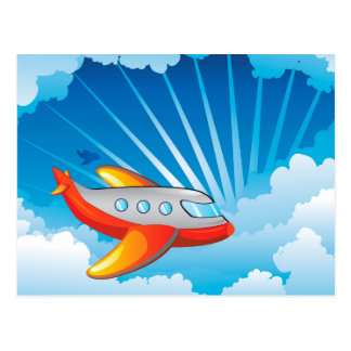 Airplane in the Sky Postcard