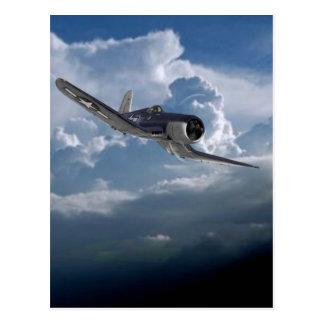 Airplane items postcard