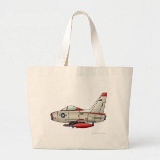 Airplane Jet Fighter Military Aircraft Bags/Totes Large Tote Bag