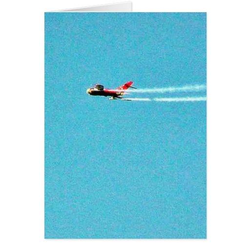 Airplane Jet Mig Card