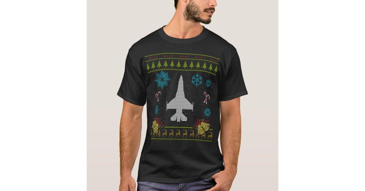 Airplane Jet Pilot Christmas Sweater Shirt | Zazzle.com