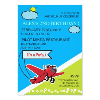 Airplane Landing - kids birthday invitation-4