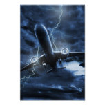 Airplane Lightning Poster