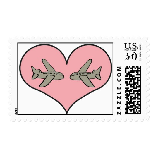 Airplane Love Stamp