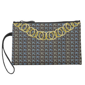Airplane Luxury Sueded Baguette Clutch