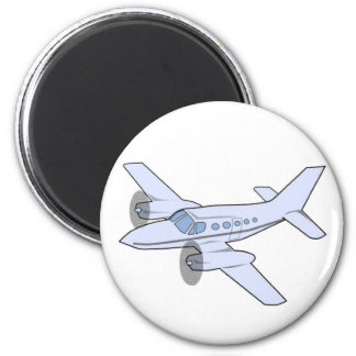 Airplane 2 Inch Round Magnet
