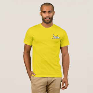 Airplane Men's Super Soft T-Shirt -Yellow
