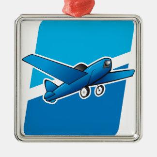 Airplane Metal Ornament