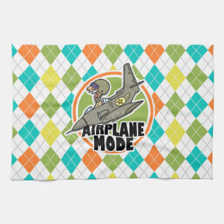 Airplane Mode; Colorful Argyle Pattern Towels