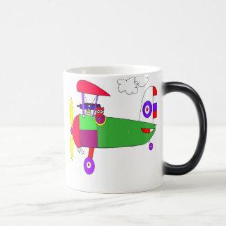 airplane  11 oz magic heat Color-Changing coffee mug