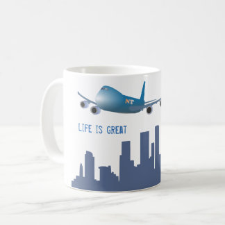 "Airplane mug ""Life is great"""