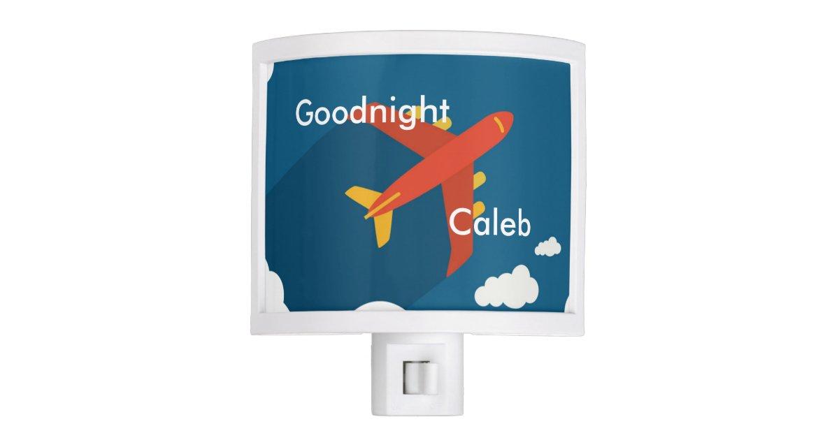 Airplane Nursery Boy S Room Personalized Night Light Zazzle