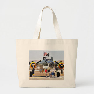 Airplane On Airshow Canvas Bags