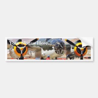 Airplane On Airshow Car Bumper Sticker