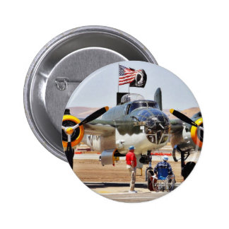 Airplane On Airshow Pinback Buttons