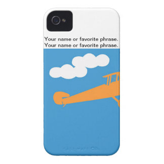 Airplane on plain blue background Case-Mate iPhone 4 case