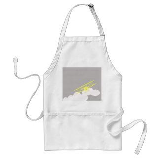Airplane on plain grey background. adult apron