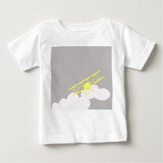Airplane on plain grey background. baby T-Shirt