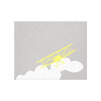Airplane on plain grey background. canvas print