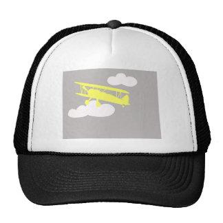 Airplane on plain grey background. trucker hat
