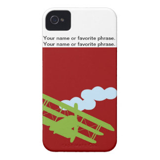 Airplane on plain red background. iPhone 4 case