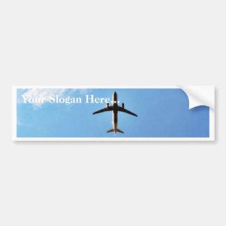 Airplane On Sky Car Bumper Sticker