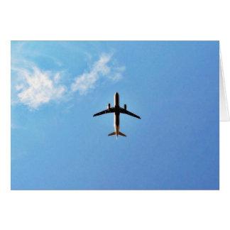 Airplane On Sky Greeting Card
