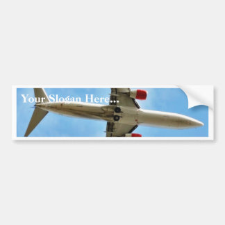 Airplane On Sky Close Up Car Bumper Sticker