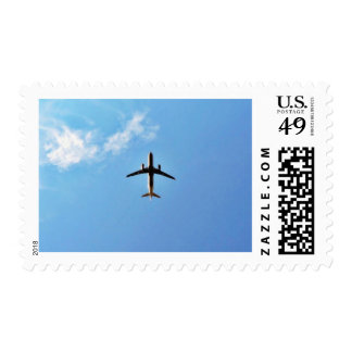 Airplane On Sky Stamps
