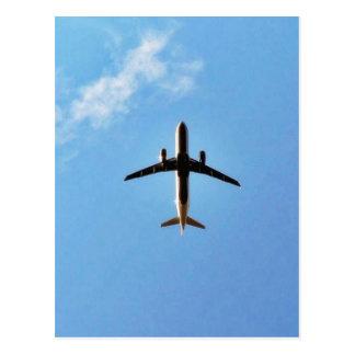 Airplane On Sky Postcard