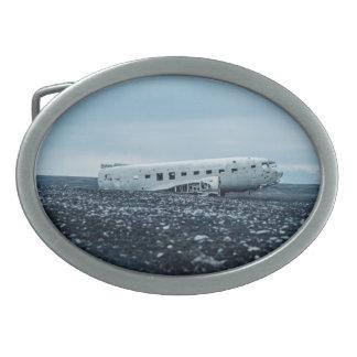 airplane oval belt buckle