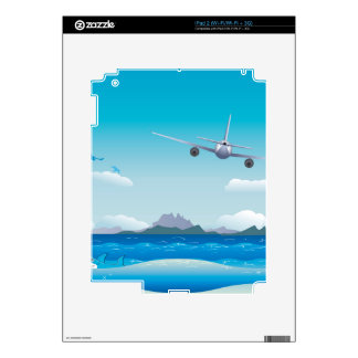 Airplane over Sea Decals For iPad 2